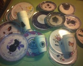 Alice in Wonderland Mad Hatter Tea Party Decoupaged China Plastic Dishes and Cups
