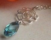 Rose Necklace - Sterling Silver & Swarovski