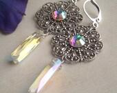 Meryl Earrings - Silver or Gold Tone - Wedding - Bridesmaids