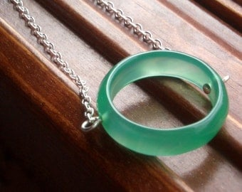 Claudia Necklace - Sterling Silver and Agate