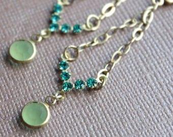 CLEARANCE - Vintage Swarovski & Chain Earrings