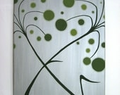 Green and Silver Weeds - Original Painting