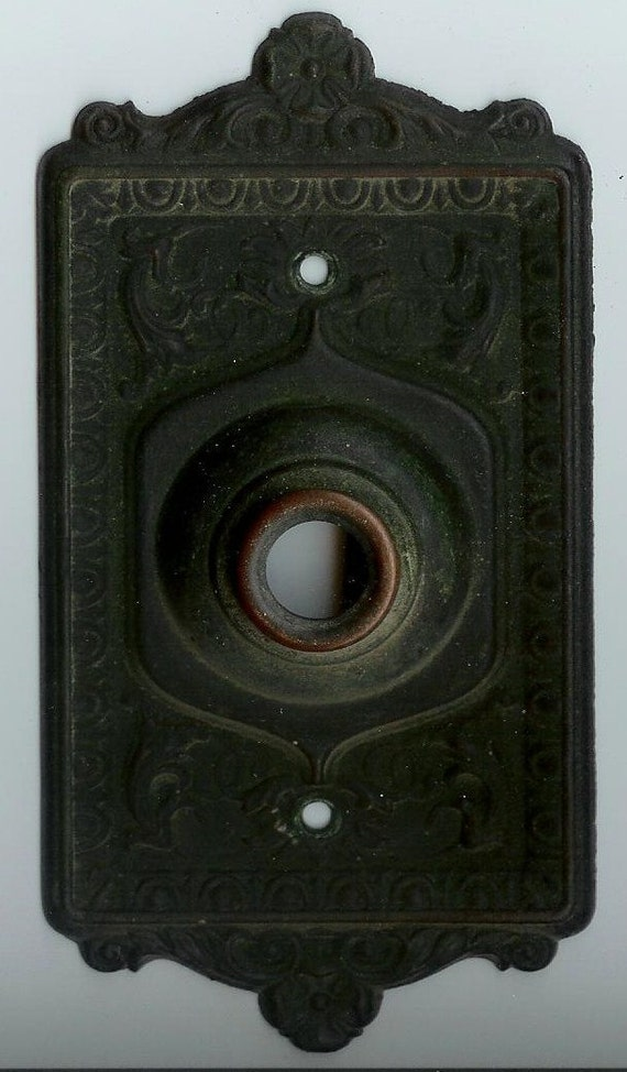 Sale Vintage Door Bell Cover Plate Antique Victorian Old