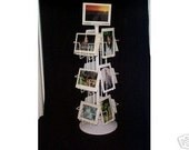 12 Pocket 5x7 Greeting Card Rack Vertical and Horizontal Pockets 6 each Combo