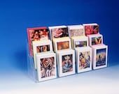 """Note Greeting Card Display Rack New Acrylic 3 Tier 24"""" Counter Rack  Fits Most Size Cards and Books FREE SHIPPING!"""