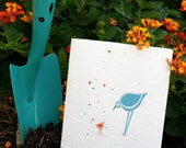 Bird Talk - plantable card embedded with wildflower seeds
