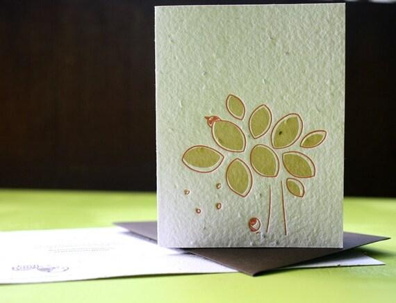 Fall letterpress plantable card