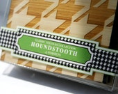 Laser Cut Houndstooth Coasters,houndstooth design,laser cut bamboo,bamboo coasters,modern coasters,good housekeeping,houndstooth coasters