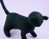 Felted Black Cat - Halloween