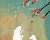 Cherry Blossom Harvest - Signed Art Print