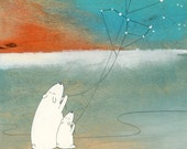 The Great Bear and the Little Bear  - Signed Art Print