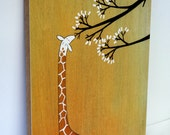 "Giraffes, Too, Like Marshmallows - 8""x10"" Mounted Art Print"