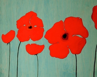 Poppies - Signed Art Print
