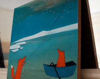 """Bring You the North Star - 8""""x8"""" Mounted Print"""