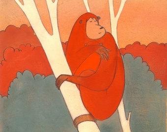 Baby Orangutan - Signed Art Print