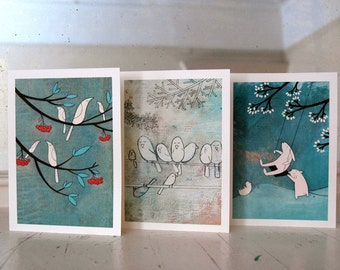 Winter Playground - Set of Six Blank Note Cards