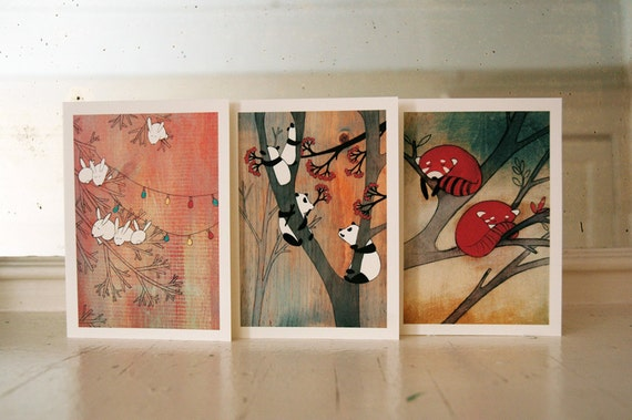 Tall Trees We Like - Set of Six Blank Note Cards