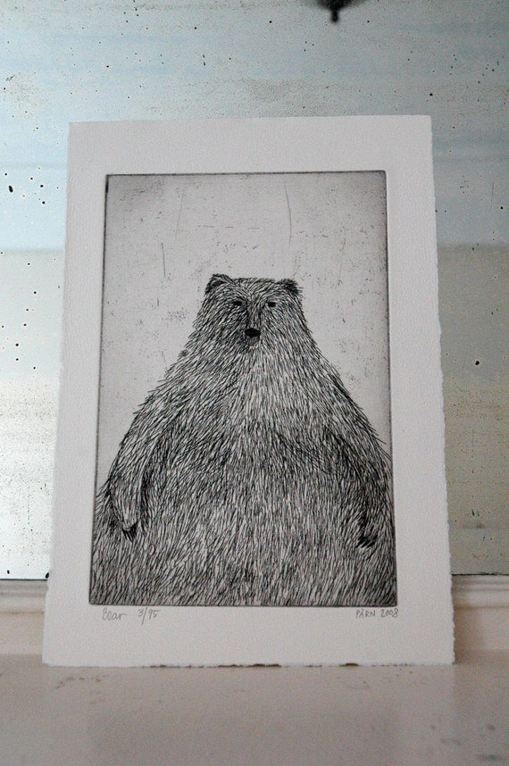Bear - Limited Edition Etching