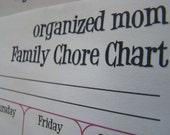 Family Chore Chart - Om Organized Mom