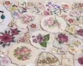 China Mosaic Tile Assortment, Florals Focals Rims