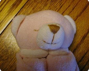 Pink Bear Baby Blankie/Monogrammed Lovie/Angel Dear/Personalized Blankie/Security Blanket/Baby Blankie Gift/Animal Blankie