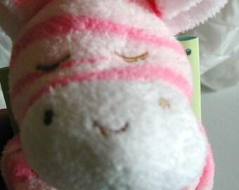 Zebra-Pink/white Baby Blankie/MonogrammedLovie/Angel Dear/Personalized Blankie/Security Blanket/Baby Blankie Gift/Animal Blankie