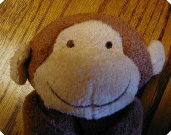 Monkey Baby Blankie/Monogrammed Lovie/Angel Dear/Personalized Blankie/Security Blanket/Baby Blankie Gift/Animal Blankie