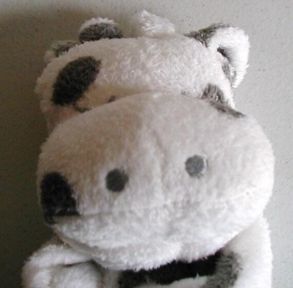 cow baby blankie  monogrammed lovie  angel dear  personalized