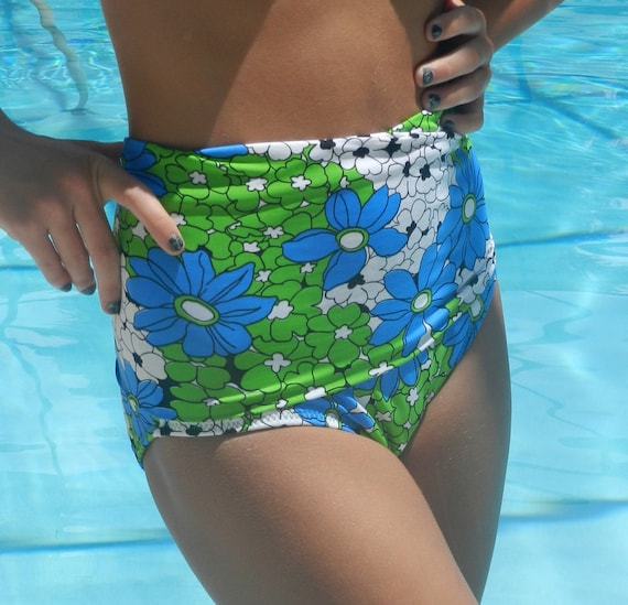 diva Kini   The bottoms up bathing suit    retro 70s style  Bottoms only available.