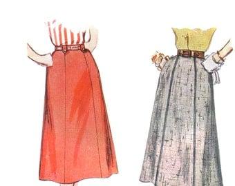 50s Gored Skirt Pattern waist 28 hip 37 vintage Tailored Skirt pattern simplicity 4375