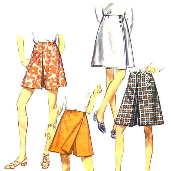 70s High Waisted Shorts vintage pattern 40-31-42 XL sale  No Instruction Sheet
