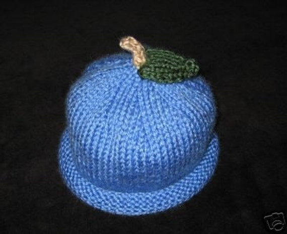 Knit Baby Toddler Blueberry Hat