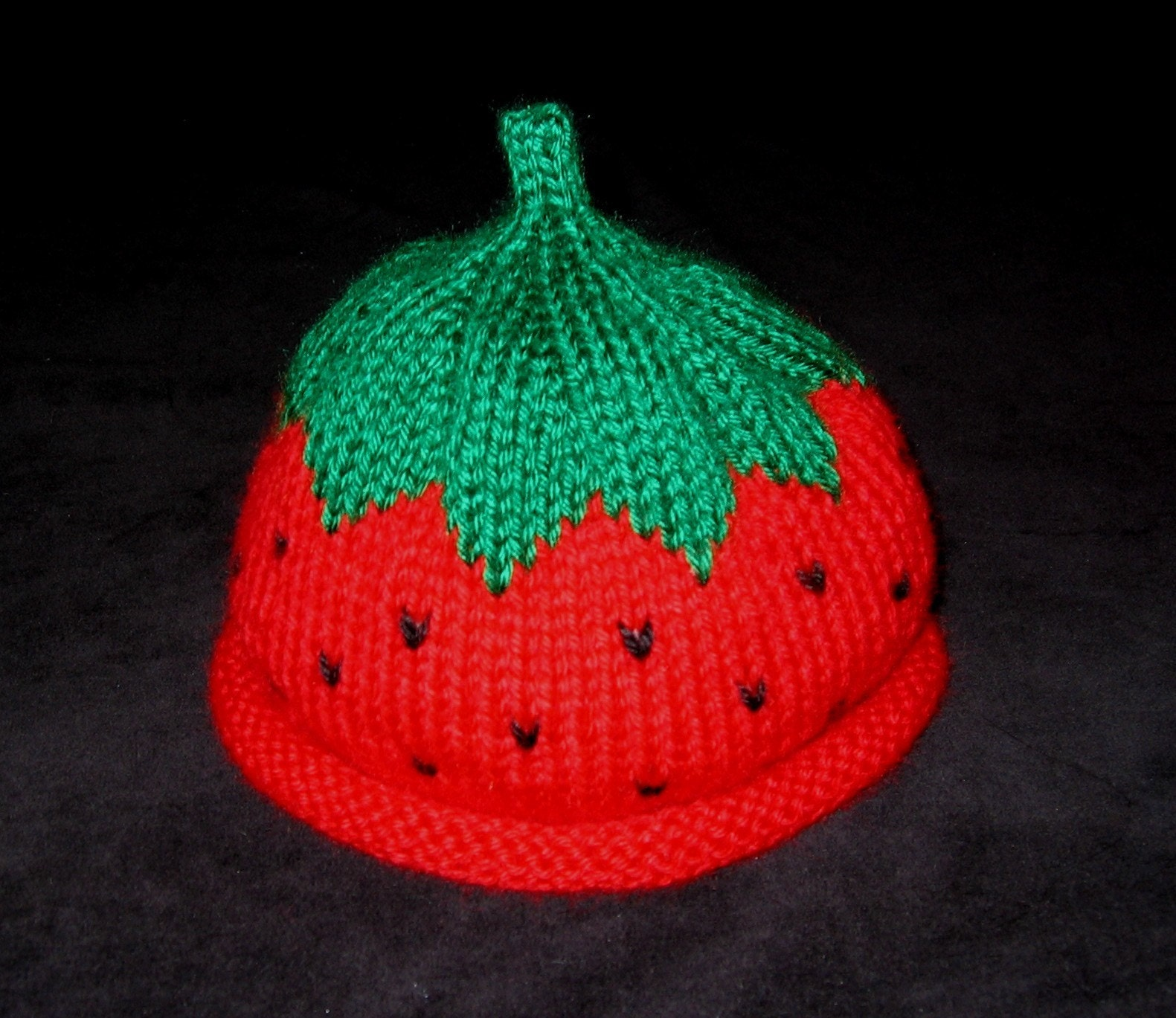 Knit Baby Toddler Strawberry Fruit Hat by BostonBside on Etsy