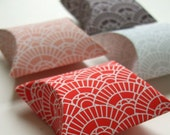 Coral Fan Pattern - 4 Mini Pillow Boxes