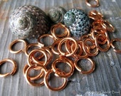 AGB jewelry findings hand cut copper 16 gauge round  jump rings 8.3mm 100 pieces