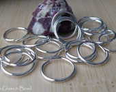 Handmade sterling silver oxidized sterling silver or 14k gold filled 18 gauge round jump rings 11mm OD 25 pieces