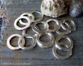 AGB artisan jewelry findings sterling silver hammered 9mm rings Satyrs 4 pieces