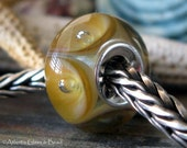 AGB boro glass sterling lined lampwork bead, Take Chances...