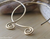AGB artisan jewelry findings gold filled hammered earring wires Mambo 1 pair