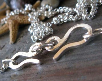 """AGB sterling silver 16"""" interchangeable rolo chain necklace"""