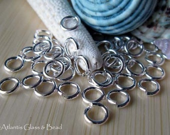 AGB sterling silver round jump rings 18 gauge 5mm 25 pieces