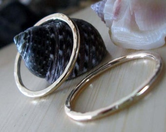 AGB artisan gold filled jewelry findings 19mm textured ring components handmade Ariston 2 pieces Made to order