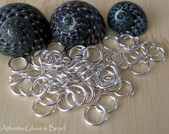 AGB hand cut sterling silver round jump rings 22 gauge by the Troy Ounce, you pick size
