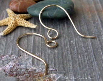 AGB artisan jewelry findings handmade gold filled ear wires Zorongo 1 pair