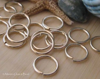 Handmade gold filled jewelry findings 20 gauge round jump rings 7.4mm 25 pieces