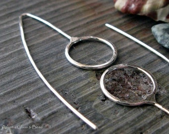 AGB artisan sterling silver or 14k gold filled earrings handmade Round Zelos 1 pair