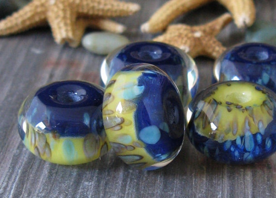 AGB boro glass lampwork beads, Most Settled....