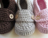Crochet Baby Booties, Cotton Loafers, slippers // Many sizes and colors to choose from // Pregnancy Announcement, Baby Shower gift