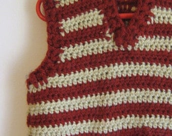 Crochet Sweater Vest Cardigan for babies and toddlers