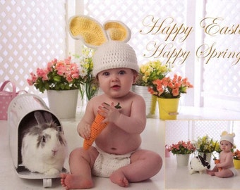 Bunny Hat , Easter Bunny hat // You choose Size and Colors
